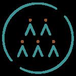 Living Brand Directory blue social good badge